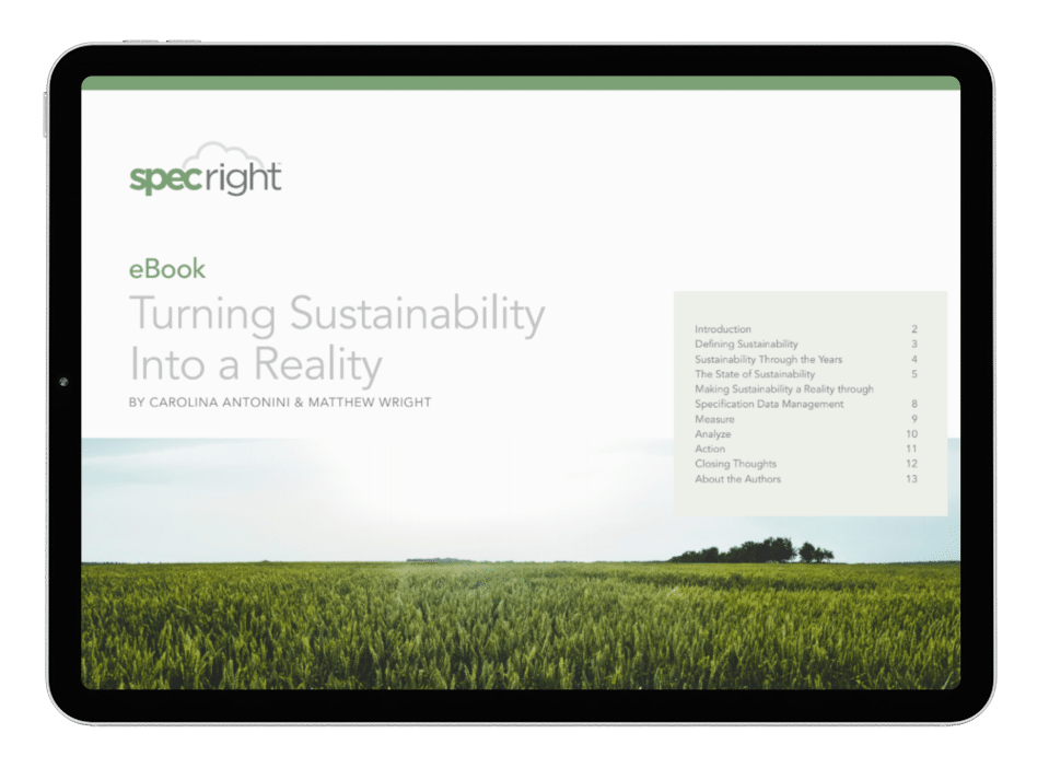 Sustainability eBook Tablet