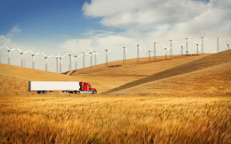 Supply Chain Truck Open Field Sustainability